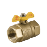 f f ruby gas ball valve with butterfly handle