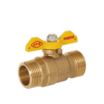 m m gas ball valve with butterfly handle