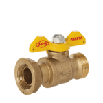 straight meter gas ball valve with butterfly handle